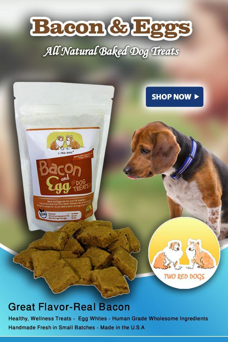 Bacon eggs all natural baked dog treats natural dog