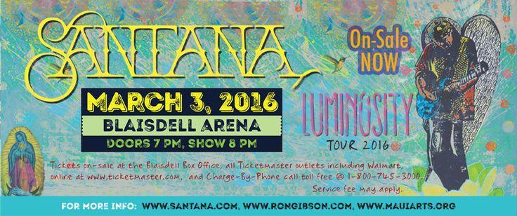 Carlos Santana concert Hawaii April 30, 2017