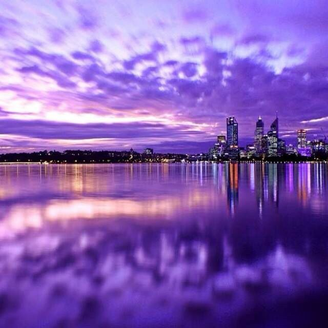 Purple haze over Perth!