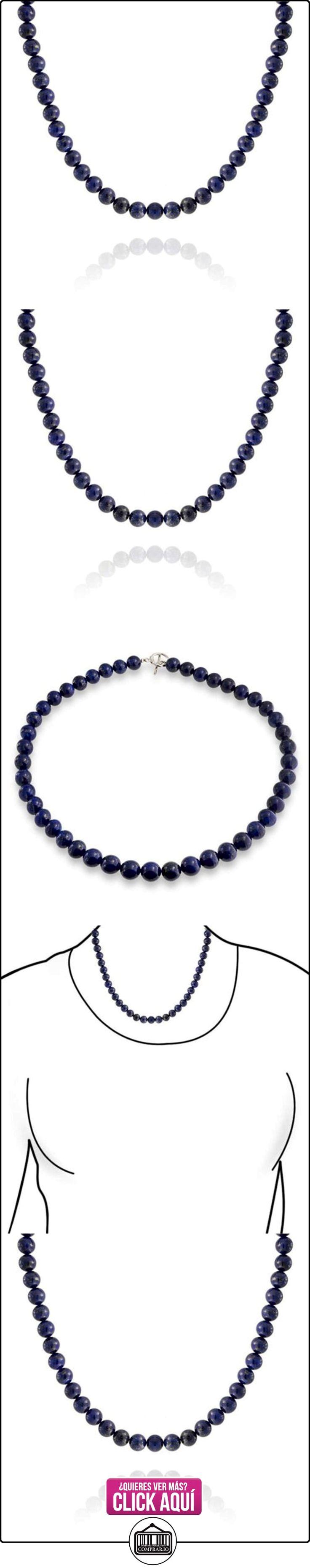 Bling Jewelry Collar Cuentas Redondas de Piedras Preciosas Lapislázuli 16 Pulgadas  ✿ Joyas para mujer - Las mejores ofertas ✿ ▬► Ver oferta: http://comprar.io/goto/B00MMOELSY