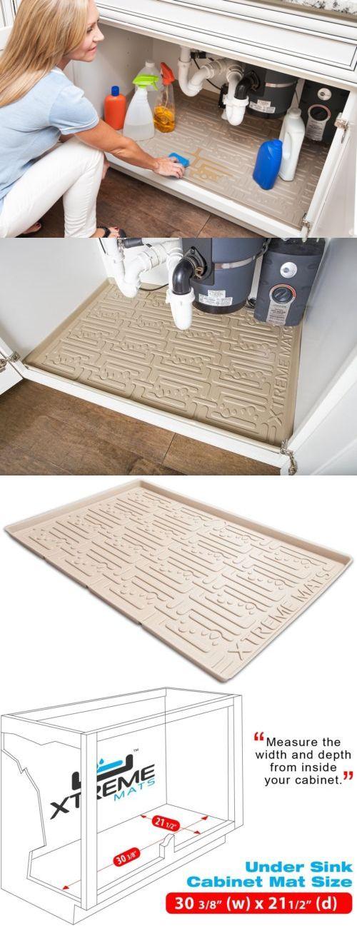 Other Kitchen Storage 11703: Xtreme Mats Under Sink Kitchen Cabinet Mat, 30 3 8 X 21 1 2, Beige -> BUY IT NOW ONLY: $73.59 on eBay!