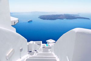 View from Santorini Wall Mural