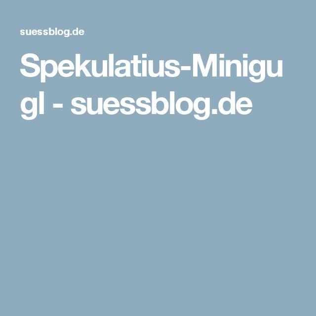 Spekulatius-Minigugl - suessblog.de