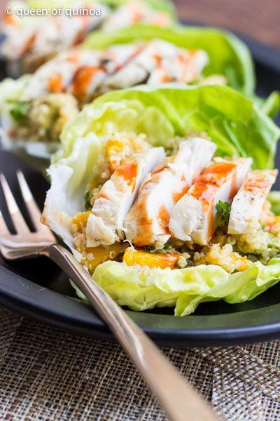 #Laitue au #quinoa et #poulet ! #Healthy , #GlutenFree and #delicious !