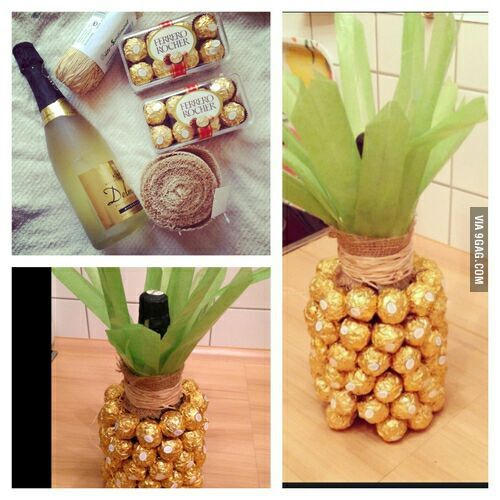 A good housewarming gift idea; pineapples are a universal symbol of welcome and hospitality