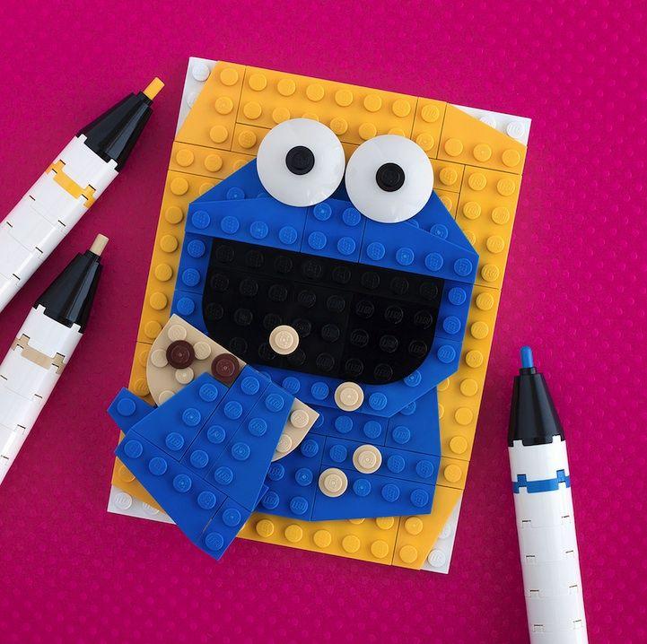 LEGO Pop-Culture Portraits by Chris McVeigh  http://chrismcveigh.com/cm/welcome.html
