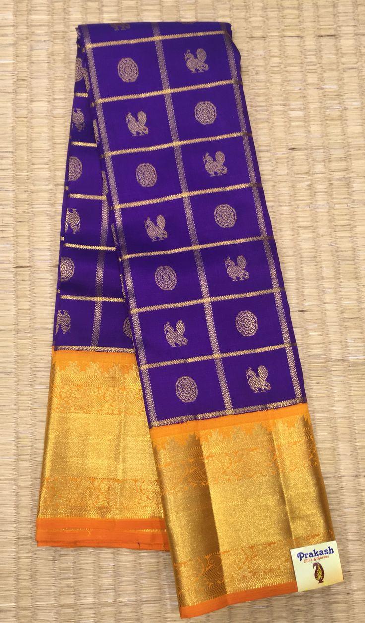 Prakash silks traditional sarees with contrast