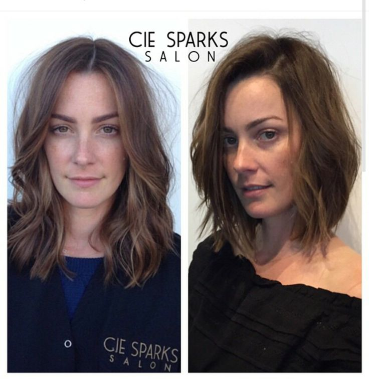 Before and After at Cie Sparks Salon in Malibu #malibu #beachwaves #lob #bob