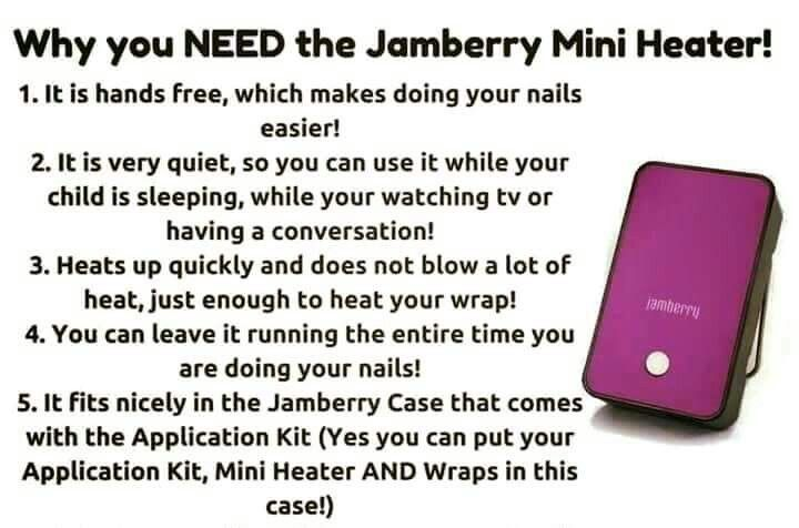 Jamberry heater. A must for quick and easy wrap application. https://theraders.jamberry.com/