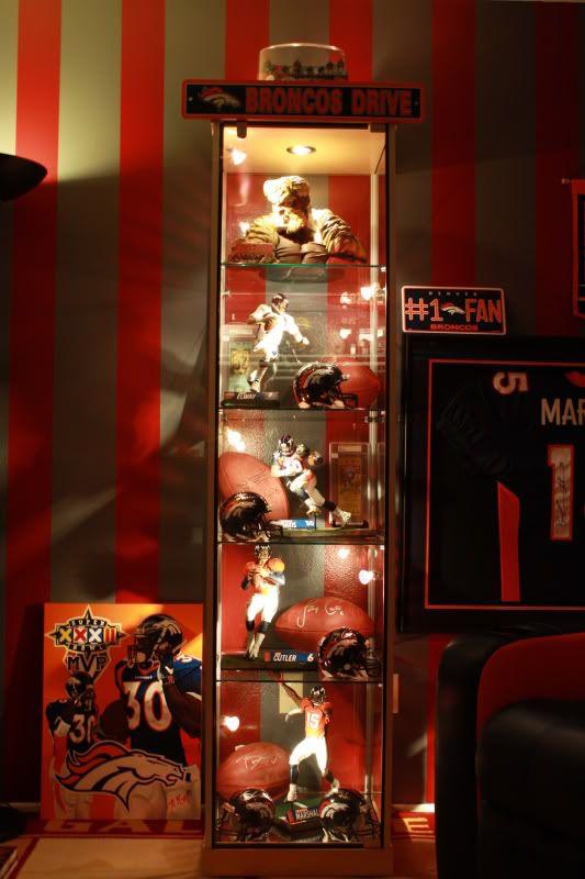 Great Display For Sports Memorabilia Displaying Sports