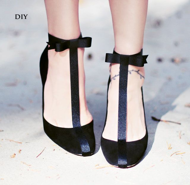 Shoe DIYs are my absolute favorite. In fact, my very first ever DIY on