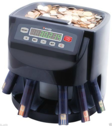 Money Coin Counter Sorter Machine Commercial Change Wrapper Electronic Digital #Cassida