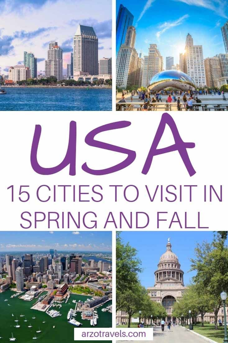 Best Cities In The Us To Visit In Spring And Fall For A Weekend Best States To Visit Cheap Places To Travel Usa Travel Destinations