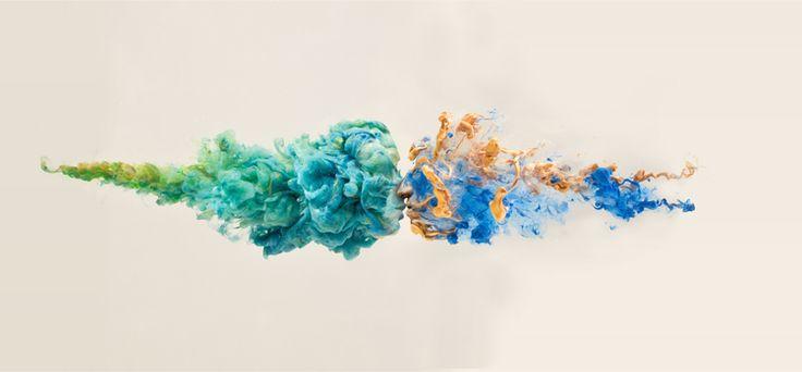 Chris Slabber - podwójna ekspozycja i rozpuszczony w wodzie atrament
