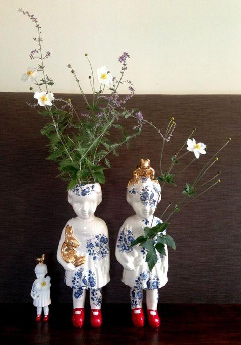 Pop XXL Open heart NIEUW. Clonette dolls by Lammers en Lammers, two Dutch sisters who make traditional Dutch figures in porcelain. Studio de Winkle.