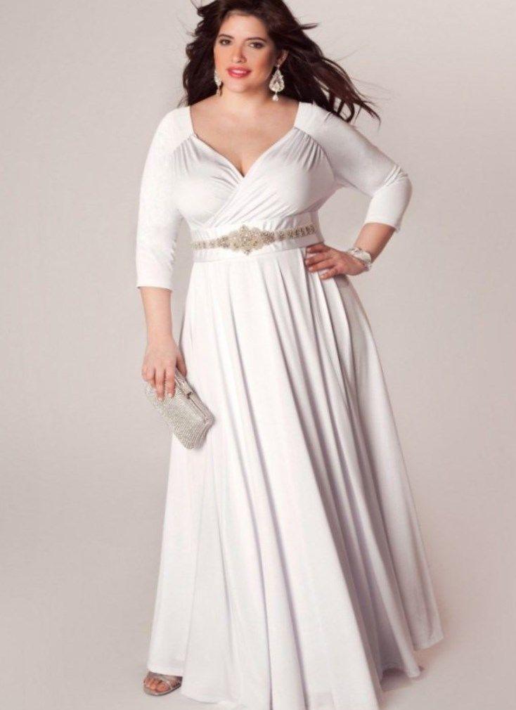 3c815a0c1860c Plus size white long sleeve maxi dress - https   letsplus.eu
