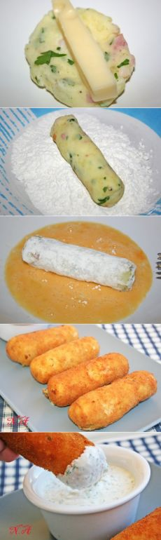 Palitos de papa rellenos de queso. forum.say7.info