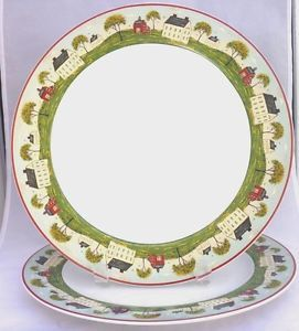 Sakura 10  Dinner Plates set of 2 Warren Kimble for Brandon House Country Life  sc 1 st  Pinterest & 105 best Dinnerware u0026 Serving Dishes images on Pinterest | Serving ...