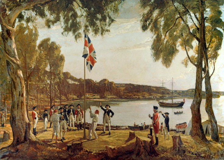 Happy Australia Day to all our Australian followers!     Image: The Founding of Australia by Royal Navy Captain Arthur Phillip in Sydney Cove, January 26, 1788. © The British Library Board