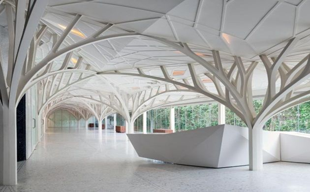 These Magnificent Steel Trusses Serve As Both A Structural