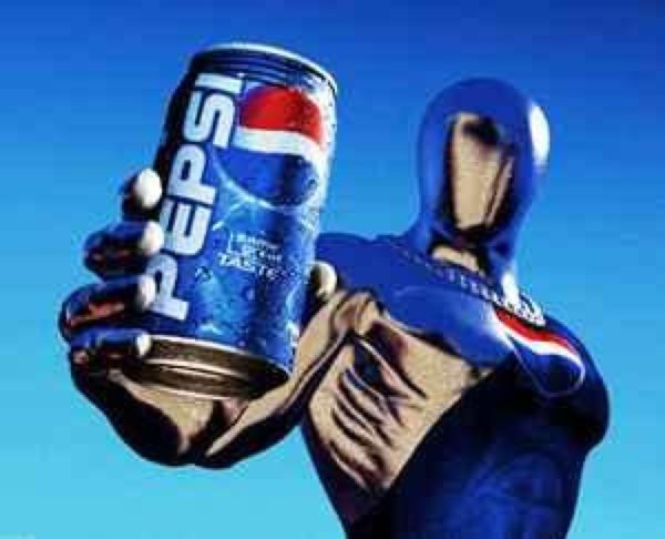 "For a short while in Japan, Pepsi created a mascot known as Pepsi Man; a ""super hero"" who would run to the other side of the city to deliver pepsi to citizens. The concept alone is hysterical for me since not only this Idea was approved, Pepsi Man also got his own video game on the playstation as well."