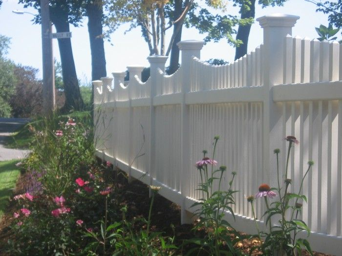 17 best ideas about white picket fences on pinterest for Garden fence posts ideas