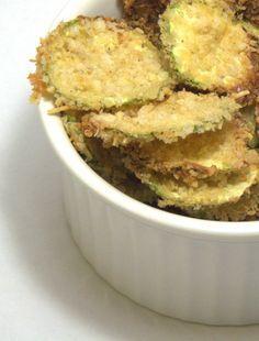 Chips de abobrinha {no forno}   cozinha pequena  - uma delícia!!!