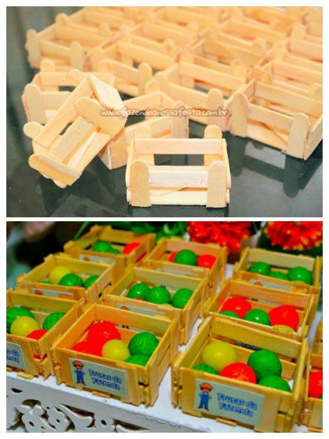 Caixotes para lembrancinha feitos de palito
