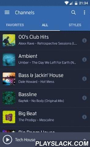 Digitally Imported Radio  Android App - playslack.com ,  Digitally Imported is the premier streaming radio service for electronic music fans. Our newly redesigned app offers over 90 channels of electronic music and an extensive selection of exclusive and first-to-air content you can't find anywhere else.All of our music is hand-selected by electronic music enthusiasts from all corners of the globe. Find your favorite styles including Trance, House, EDM, Dance, Lounge, Chillout, Techno…