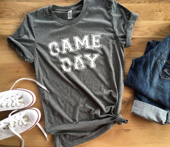 GAME DAY Feminine effortless t-shirt for woman by LeoJudeCo