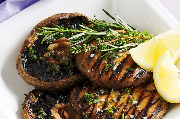 Barbecues are not just meant for meats - grill up this fabulous mushroom side with garlic, thyme and rosemary.