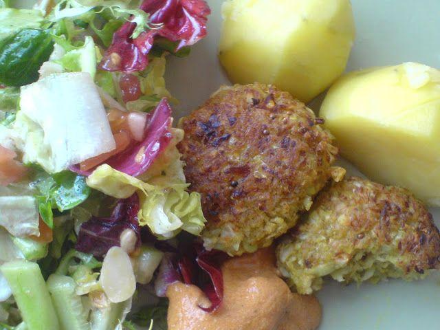 eat babe green: kofty z białej kapusty