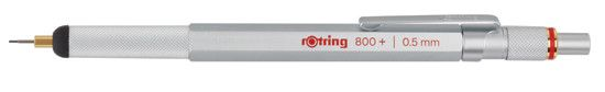 Rotring 800 Stylus Hybrid Silver .5mm Pencil