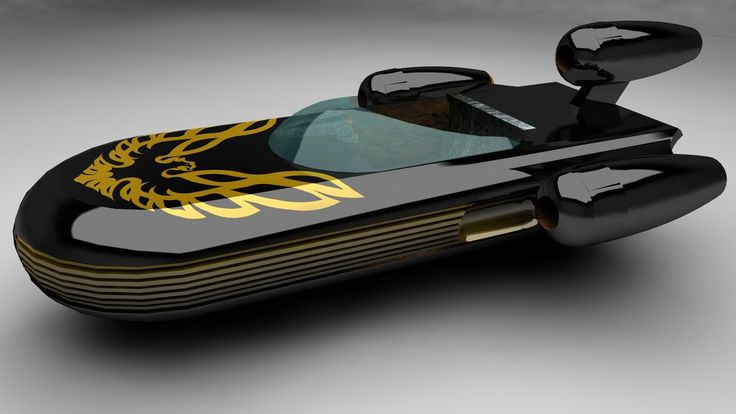Trans Am Edition Landspeeder by *archangel72367, who used a model found on Google 3D warehouse created by Gillman.