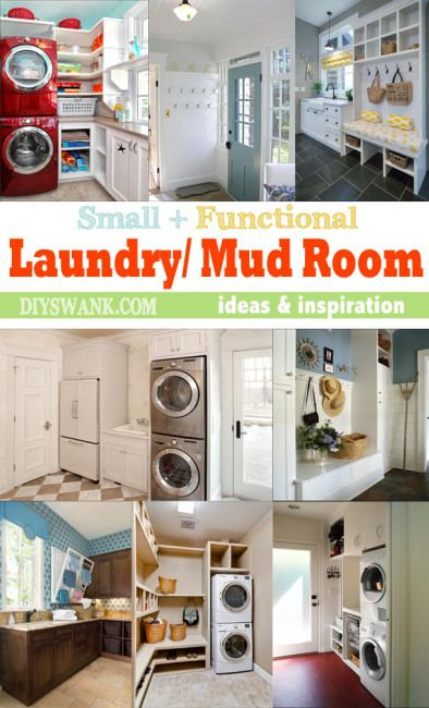shopping online for clothes canada Small Functional Laundry   Mud Room Ideas and Inspiration   DIY Swank