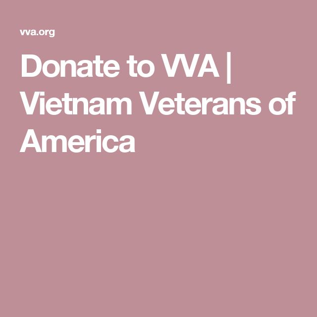 Donate to VVA | Vietnam Veterans of America