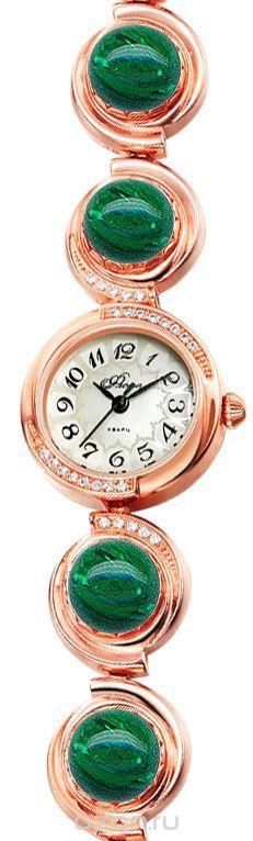 Часы женские наручные Mikhail Moskvin Флора, цвет: золотистый. 1138B8B1 Кош. гл. зеленый