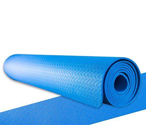 Fitnessmatte / Yogamatte f�r angenehmes und gelenkschonendes Training (d�nn & extra leicht) Latexfrei, geruchsarm, Ideal f�r Yoga, Pilates, Gymnastik, Workout oder Bodyweight Training