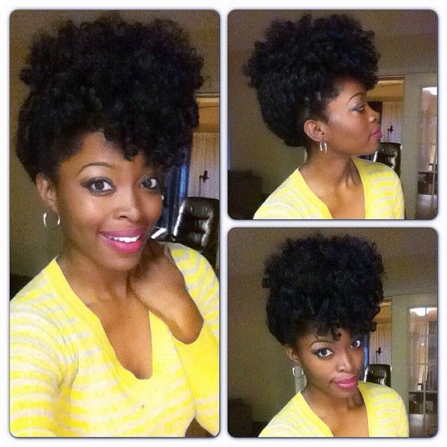 Crochet Up Hairstyles : Crochet braids with marley hair updoProm Hairstyles, Hairstyles ...