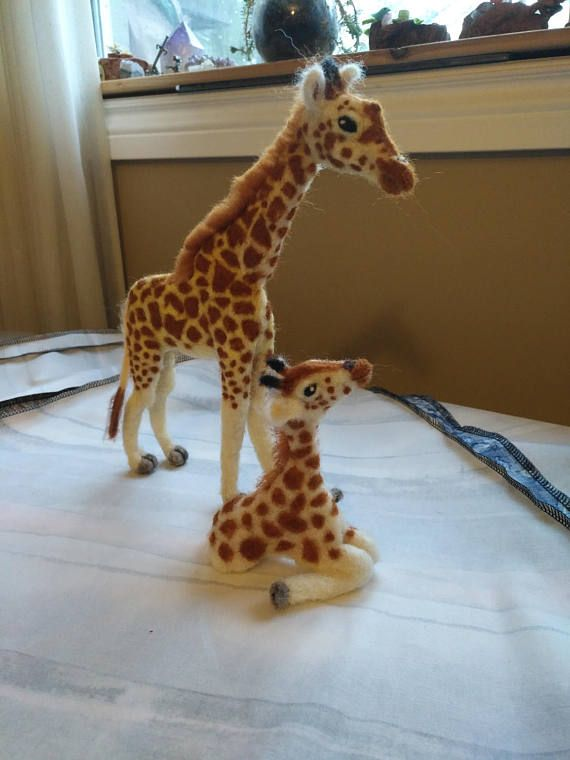 Made to ORDER Baby Giraffe Realistic Needle Felted Sculpture
