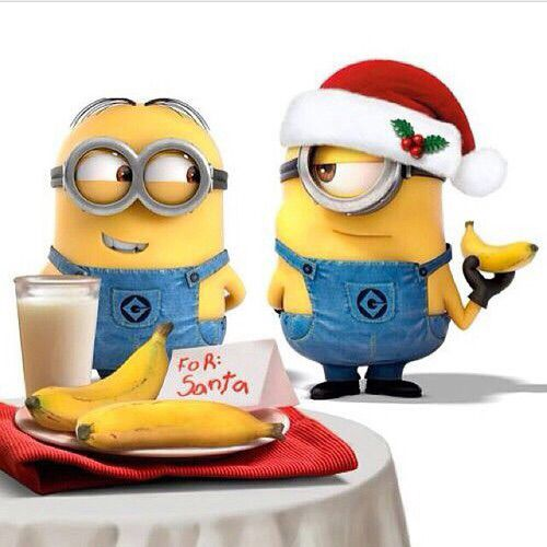 Minions Leave Bananas for Santa, what do you leave?