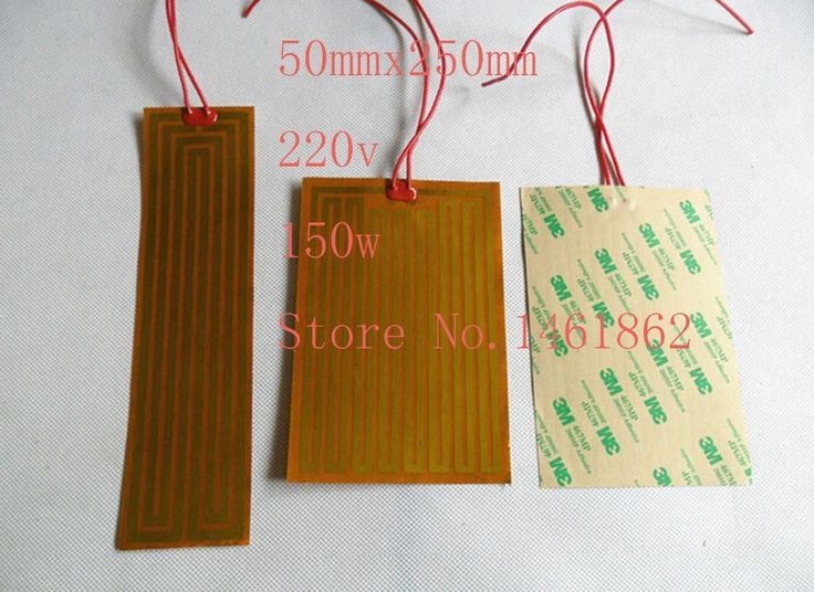 27.54$  Buy here - http://alisdf.shopchina.info/go.php?t=32650993691 - 50mmx250mm 220v150w element heating PI film polyimide heater heat rubber electric flexible heated bad printer heating pad oil 27.54$ #buyininternet