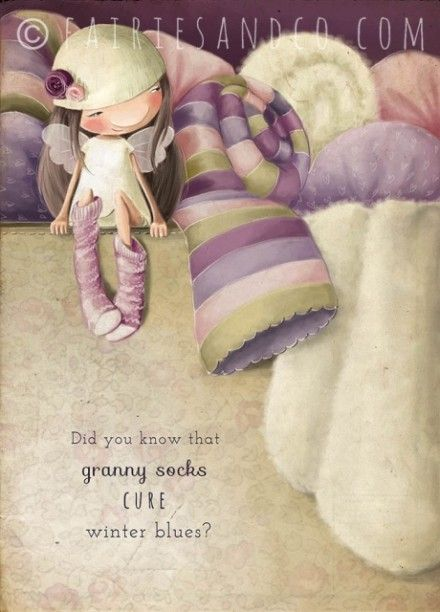 Warm Socks Fairy A3 Print, £15.00 Visit our Fairy shop for more great prints and cards