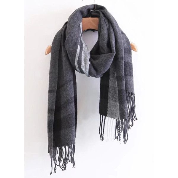 Fringe Trim Plaid Scarf ($0.99) ❤ liked on Polyvore featuring accessories, scarves, tartan plaid scarves, fringe scarves, plaid scarves, plaid shawl and tartan scarves