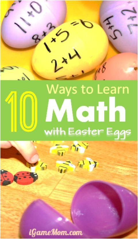 10 ways to learn math with Easter Eggs - math games and printable worksheets to help kids learn numbers, counting, odd even numbers, and math operations. Fun STEM learning activities for kids from toddler, preschool to upper elementary school