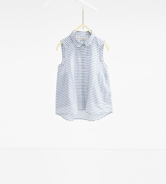 Image 1 of Striped fabric shirt from Zara