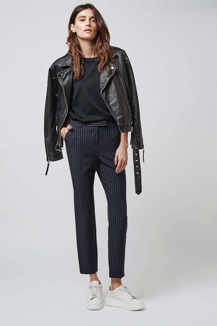 PETITE Pinstripe Cigarette Trousers - Pants & Leggings - Clothing - Topshop USA