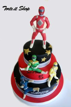 Torta Power Rangers realizzata da Torte.it Milano - Torte.it