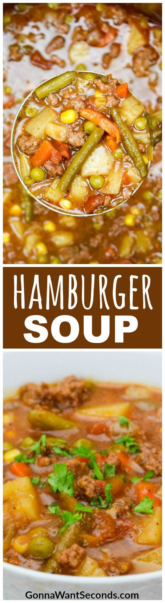Hamburger Soup is a home-style, hearty meal sure to satisfy healthy appetites and stir up happy memories of Grandma's house.