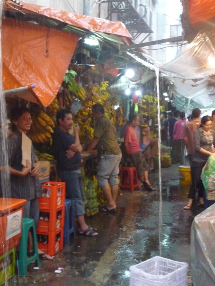 Heavy rains in Jakarta